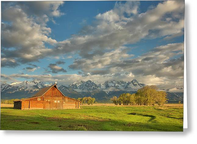 Greeting Card featuring the photograph Morning Light On Moulton Barn by Joe Paul