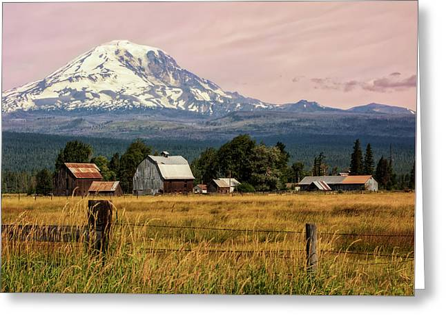 Morning Light On Mount Adams Greeting Card