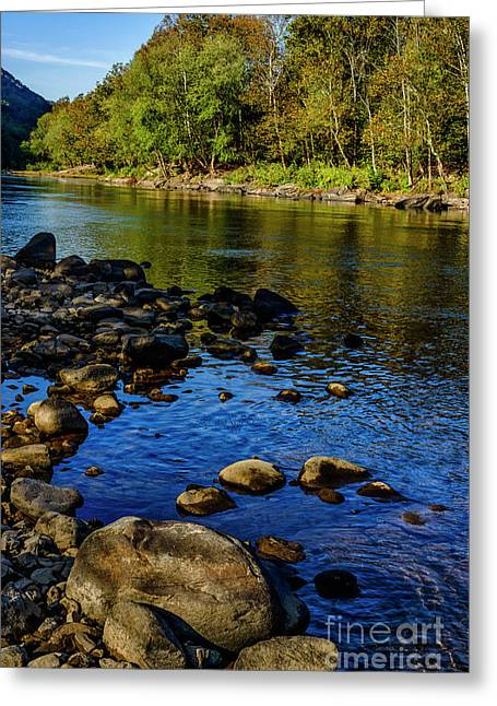 Morning Light On New River Greeting Card