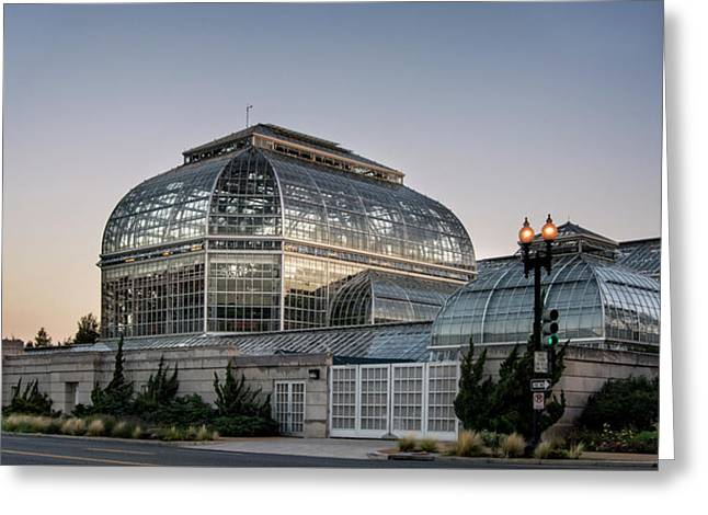 Morning Light On The United States Botanic Garden Greeting Card by Greg Mimbs