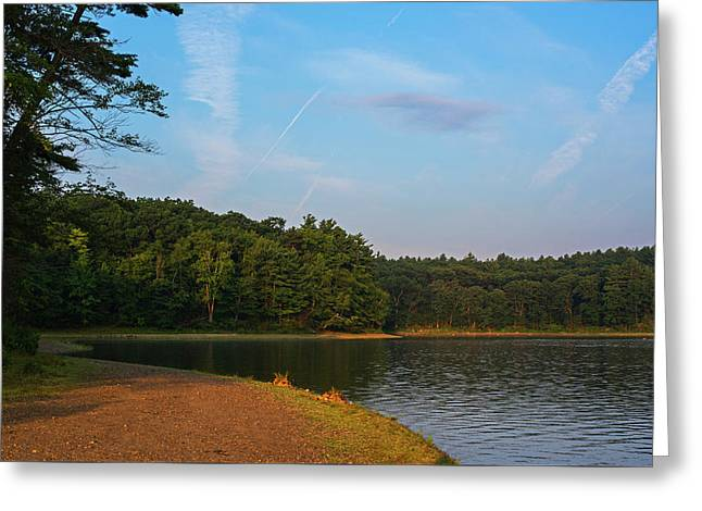 Morning Light On Walden Pond Concord Ma Greeting Card