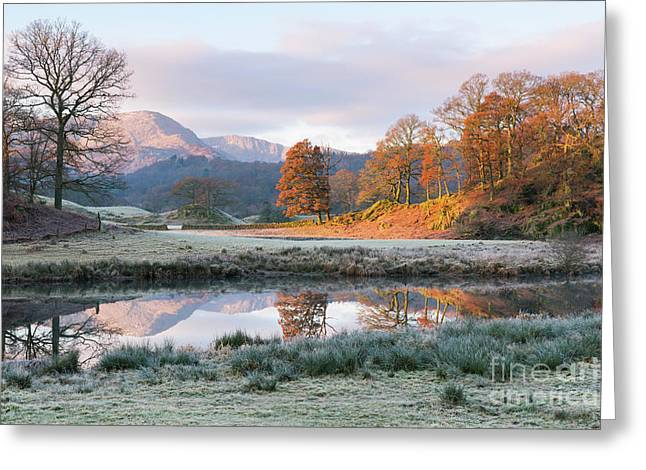 Morning Light Over The Brathay Greeting Card