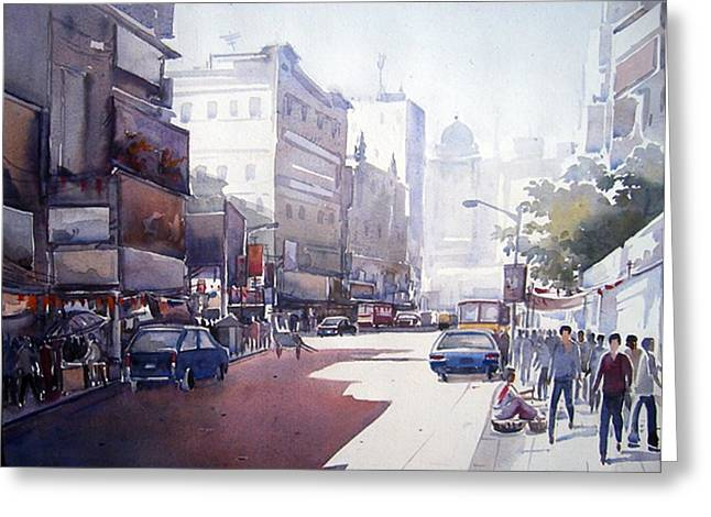 Morning Light Shadow In Kolktaa Greeting Card by Samiran Sarkar