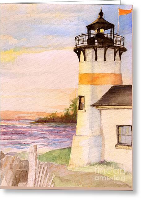 Morning, Lighthouse Greeting Card