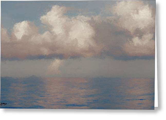 Greeting Card featuring the painting Morning Lights by Rosario Piazza