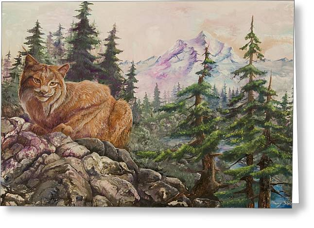 Morning Lynx Greeting Card