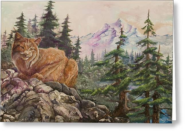 Morning Lynx Greeting Card