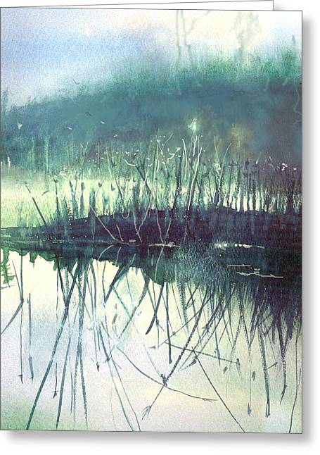 Morning Marsh Greeting Card by Gertrude Palmer