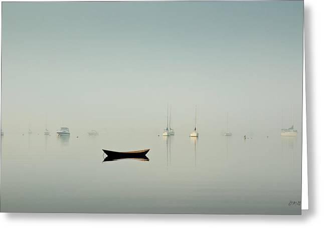 Morning Mist Bristol Harbor Greeting Card