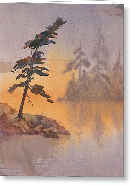 Morning Mist Greeting Card by Debbie Homewood
