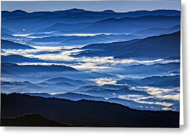 Morning Mist In The Smokies Greeting Card by Rick Berk