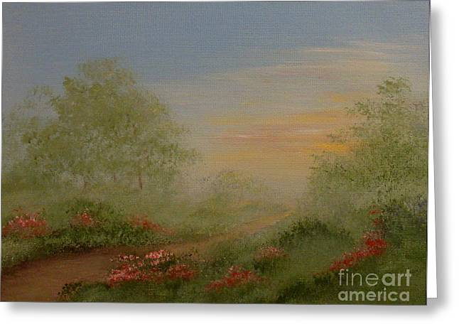 Morning Mist Greeting Card by Leea Baltes