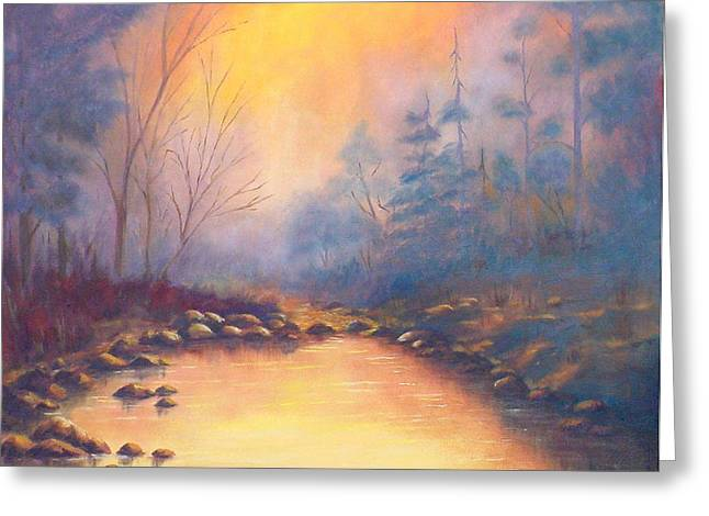 Morning Mist Greeting Card by Merle Blair