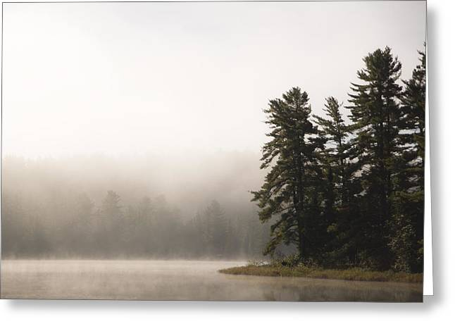 Morning Mist On Mew Lake Greeting Card