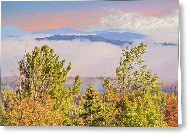 Morning Mountain View Northern New Hampshire. Greeting Card