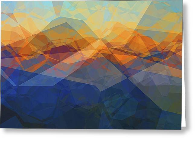 Morning Mountain View Greeting Card