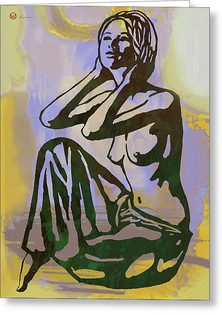Dawning - Nude Pop Stylised Art Poster Greeting Card