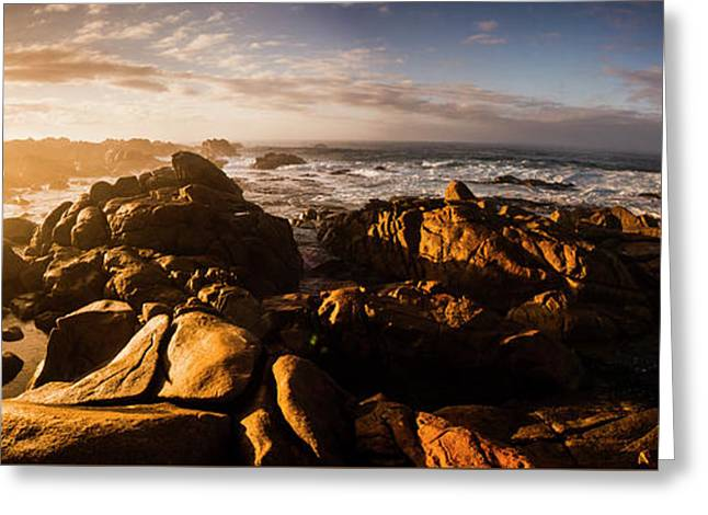 Morning Ocean Panorama Greeting Card by Jorgo Photography - Wall Art Gallery