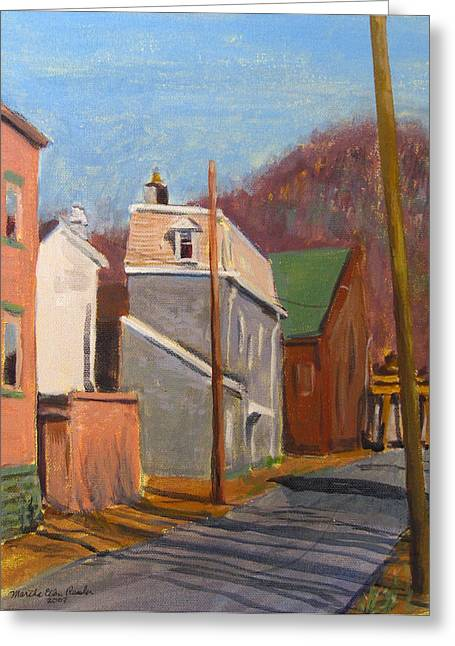 Morning On 50th Street Greeting Card by Martha Ressler