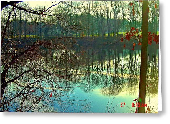 Morning On Farrington Lake Greeting Card by Aron Chervin