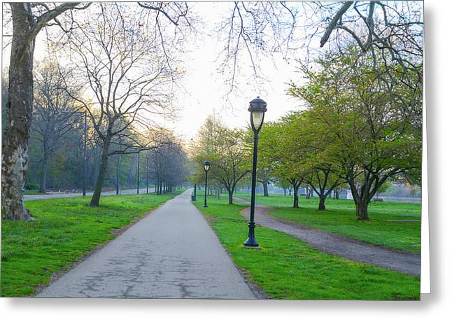 Morning On Kelly Drive In The Spring Greeting Card by Bill Cannon