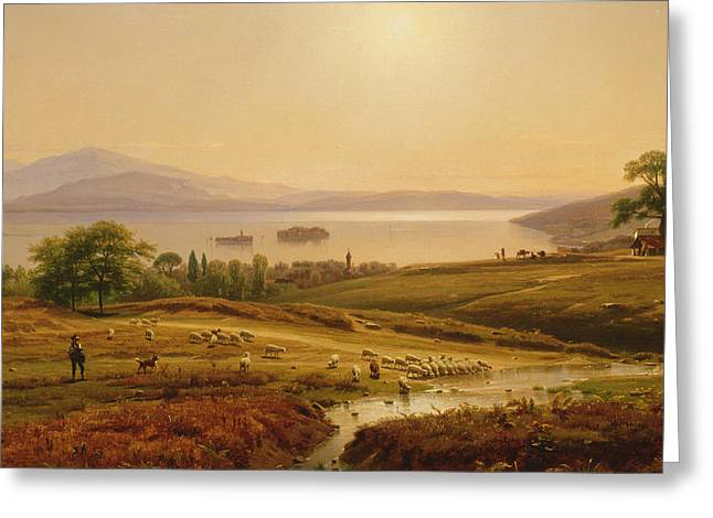 Morning On Lake Maggiore Greeting Card by Thomas Worthington Whittredge