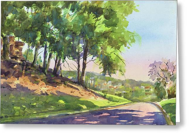 Morning On Penn Drive Greeting Card by Spencer Meagher