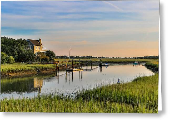 Morning On The Creek - Wild Dunes Greeting Card