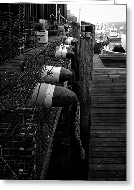 Morning On The Docks Greeting Card by Bob Orsillo