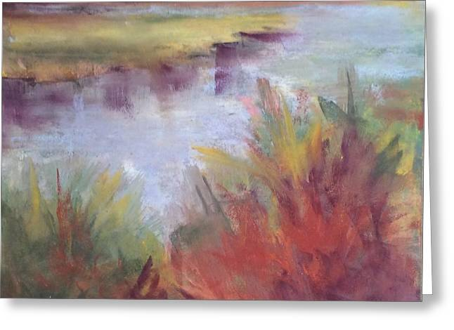 Morning On The Marsh Greeting Card