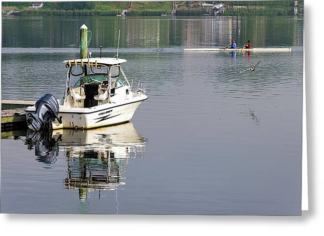 Greeting Card featuring the photograph Morning On The Navesink River 2 by Gary Slawsky