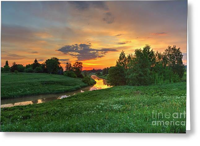 Morning On The River Greeting Card by Veikko Suikkanen