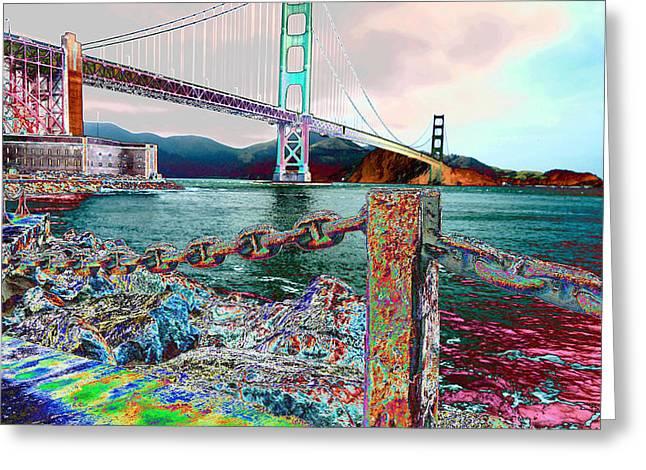 Morning On The San Francisco Bridge Greeting Card