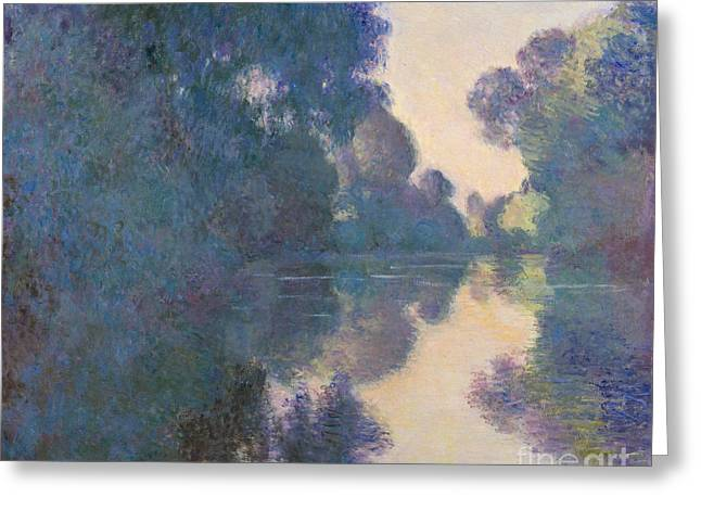 Morning On The Seine Near Giverny, 1897 Greeting Card by Claude Monet