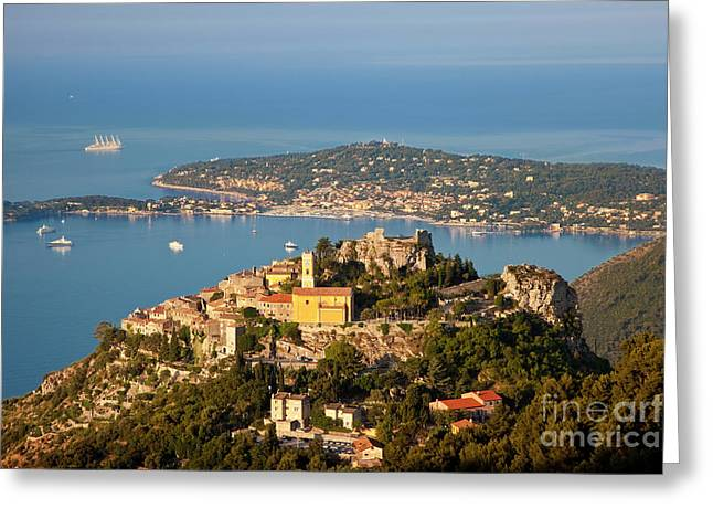 Morning Over Eze Greeting Card by Brian Jannsen