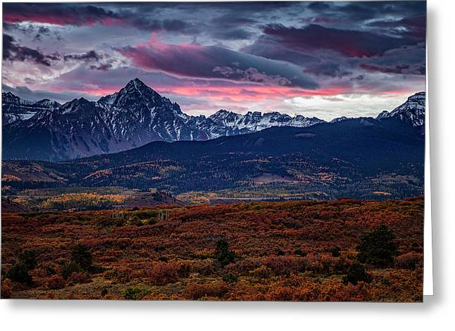 Greeting Card featuring the photograph Morning Over The Rockies by Andrew Soundarajan
