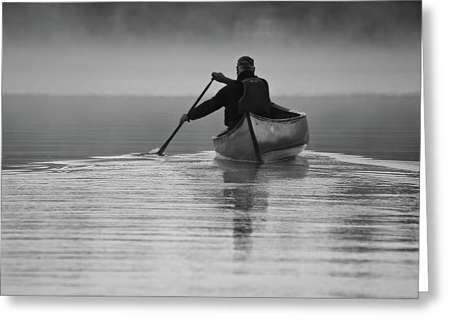 Morning Paddle Greeting Card