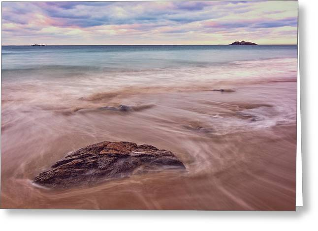 Morning Pastels Singing Beach Ma Greeting Card