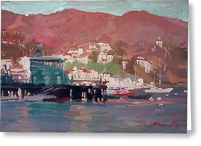 Morning Pleasures - Catalina Harbor Greeting Card