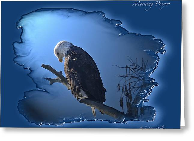 Wildlife Digital Art Greeting Cards - Morning Prayer Greeting Card by J Larry Walker