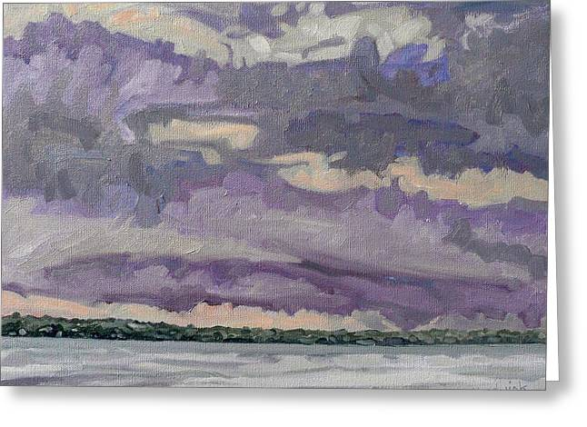 Morning Rain Clouds Greeting Card by Phil Chadwick