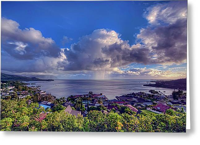 Morning Rain In Kaneohe Bay Greeting Card