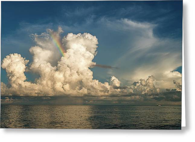 Morning Rainbow Greeting Card by Russ Burch