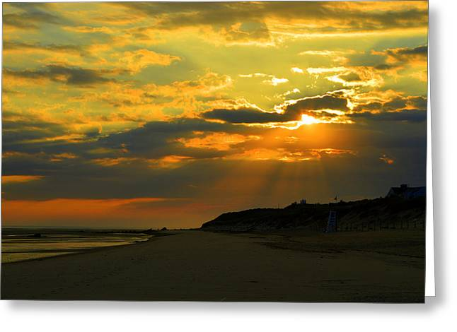Morning Rays Over Cape Cod Greeting Card by Dianne Cowen