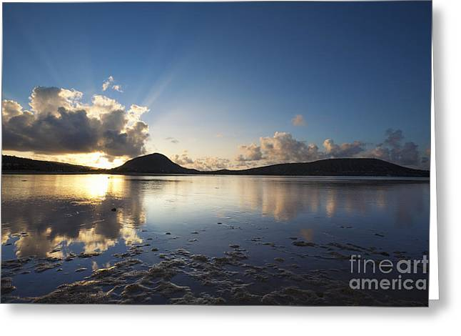 Greeting Card featuring the photograph Morning Rays Over Hawaii Kai by Charmian Vistaunet