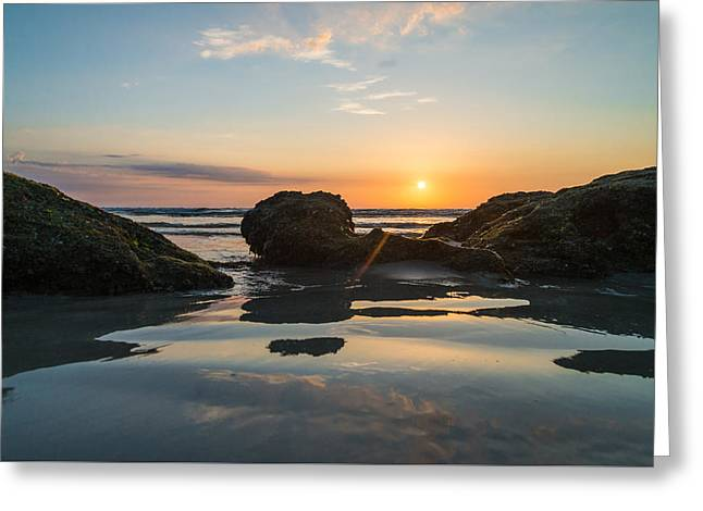 Morning Reflection Greeting Card by Kristopher Schoenleber