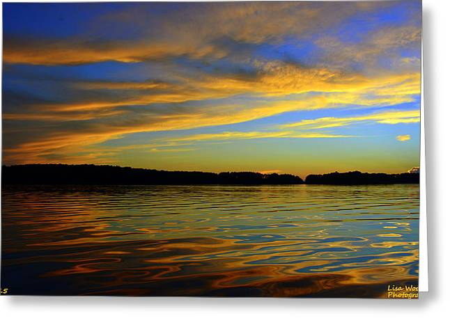 Morning Reflections Greeting Card by Lisa Wooten