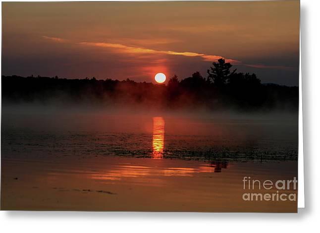 Morning Reflections On Lake Umbagog   Greeting Card