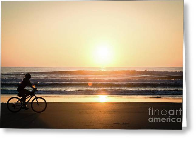 Morning Ride Greeting Card by Ed Taylor