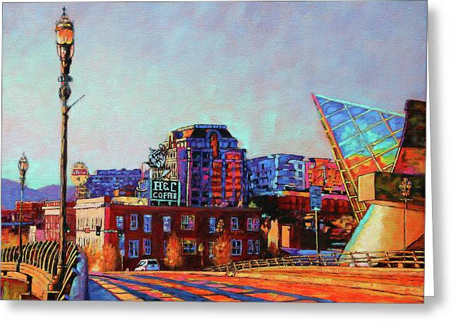 Morning Rush - The Corner Of Salem Avenue And Williamson Road In Roanoke Virginia Greeting Card